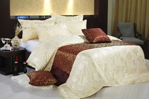 egyptian cotton hotel bed